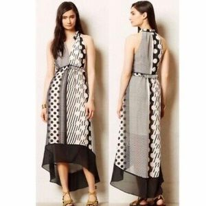 Maeve High Low Abstract Maxi Dress Size Small